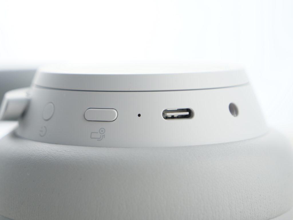Surface headphones à plat, zoomé sur une coque
